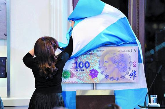 presidenta-Cristina-Fernández-presentó-un-billete-en-homenaje-a-Evita-Perón